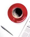 茶与咖啡0064,茶与咖啡,水果食品,红色杯碟