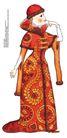 食品包装示图0092,食品包装示图,水果食品,高贵女人 衣饰 贵族
