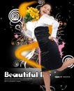 人物0009,人物,韩国设计元素,身姿 花朵 鲜花