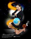 人物0010,人物,韩国设计元素,地球仪 地球 模型
