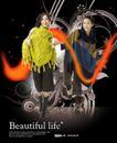 人物0015,人物,韩国设计元素,大披肩 毛线披肩 温暖冬季