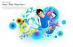 人物0027,人物,韩国设计元素,蓝色休闲