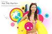 人物0029,人物,韩国设计元素,花泳装 黄色泳圈
