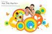 人物0033,人物,韩国设计元素,蒙住眼睛 浪漫情侣 彩色圆圈