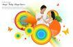 人物0035,人物,韩国设计元素,白衣情侣