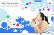 人物0038,人物,韩国设计元素,吹泡泡