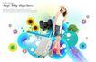 人物0043,人物,韩国设计元素,旅行 拖动 行李