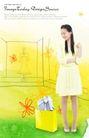 人物0047,人物,韩国设计元素,纸袋 淑女 服饰