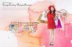 人物0049,人物,韩国设计元素,红衣 女郎 时髦