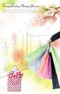 人物0054,人物,韩国设计元素,购物袋