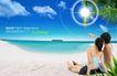 人物风景0101,人物风景,韩国设计元素,情侣 海边 沙滩