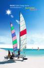人物风景0112,人物风景,韩国设计元素,帆船 沙滩 大海