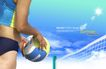 人物风景0119,人物风景,韩国设计元素,球网 蓝天 白云