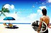 人物风景0138,人物风景,韩国设计元素,沙滩 风景 夏日