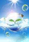 人物风景0145,人物风景,韩国设计元素,水泡 发芽 阳光