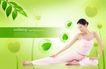健美0005,健美,韩国设计元素,休闲 瑜伽 健身