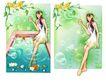 健美0022,健美,韩国设计元素,春天的插画