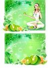 健美0025,健美,韩国设计元素,绿色季节