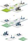 卡通建筑-地图0001,卡通建筑-地图,韩国设计元素,房屋 高楼 规划
