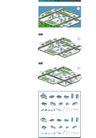 卡通建筑-地图0010,卡通建筑-地图,韩国设计元素,道路 绿化 环境