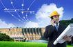 建筑师0009,建筑师,韩国设计元素,蓝天 图纸 工程