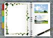 桌面书签0042,桌面书签,韩国设计元素,翻开 画册 书写