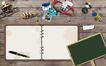 桌面书签0044,桌面书签,韩国设计元素,记录本 桌面 钢笔
