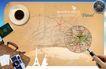 桌面书签0055,桌面书签,韩国设计元素,地图 查找 放大镜