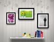 桌面书签0059,桌面书签,韩国设计元素,壁画 墙壁