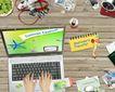 桌面书签0065,桌面书签,韩国设计元素,笔记本电脑