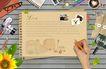 桌面书签0075,桌面书签,韩国设计元素,