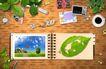 桌面书签0078,桌面书签,韩国设计元素,绿叶 相册