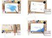 桌面书签0091,桌面书签,韩国设计元素,心形图案 英文字母 孔边缘