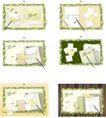 桌面书签0093,桌面书签,韩国设计元素,树叶边框 绿色 LOVE字样