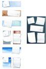 桌面书签0095,桌面书签,韩国设计元素,长方形 边孔 花纹图案
