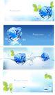 水纹0010,水纹,韩国设计元素,冰块 树叶 水滴