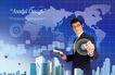 电子科技0109,电子科技,韩国设计元素,一个职员