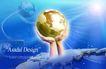 电子科技0115,电子科技,韩国设计元素,地球 双手举托 蔚蓝色