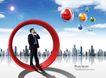 电子科技0136,电子科技,韩国设计元素,经理 商务 蓝天