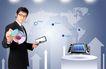 电子科技0147,电子科技,韩国设计元素,光盘 世界地图 标记