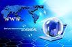 电子科技0149,电子科技,韩国设计元素,网址 蜂窝网络 透明球