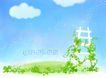 甜甜的滋味0009,甜甜的滋味,浪漫柔情写真模板,白云 梯子 春天