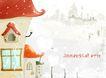 童年风彩0001,童年风彩,浪漫柔情写真模板,房屋 窗户 卡通
