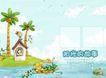 绿野小精灵0007,绿野小精灵,浪漫柔情写真模板,河流 小岛 房屋