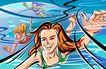 潮流印象0061,潮流印象,生活方式,游泳的女人