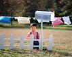 童趣0146,童趣,儿童,白色栅栏 信箱
