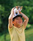 儿童宠物0050,儿童宠物,儿童,举起小猫