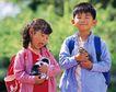 儿童宠物0052,儿童宠物,儿童,放学了 背着书包 小动物