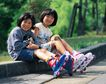 儿童宠物0057,儿童宠物,儿童,街上 轮滑鞋 运动装