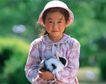 儿童宠物0067,儿童宠物,儿童,抱着兔子
